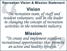 Navigate to Recreation Vision and Mission