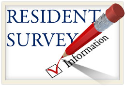 Navigate to Resident Survey