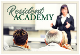 Navigate to Resident Academy Sign up form